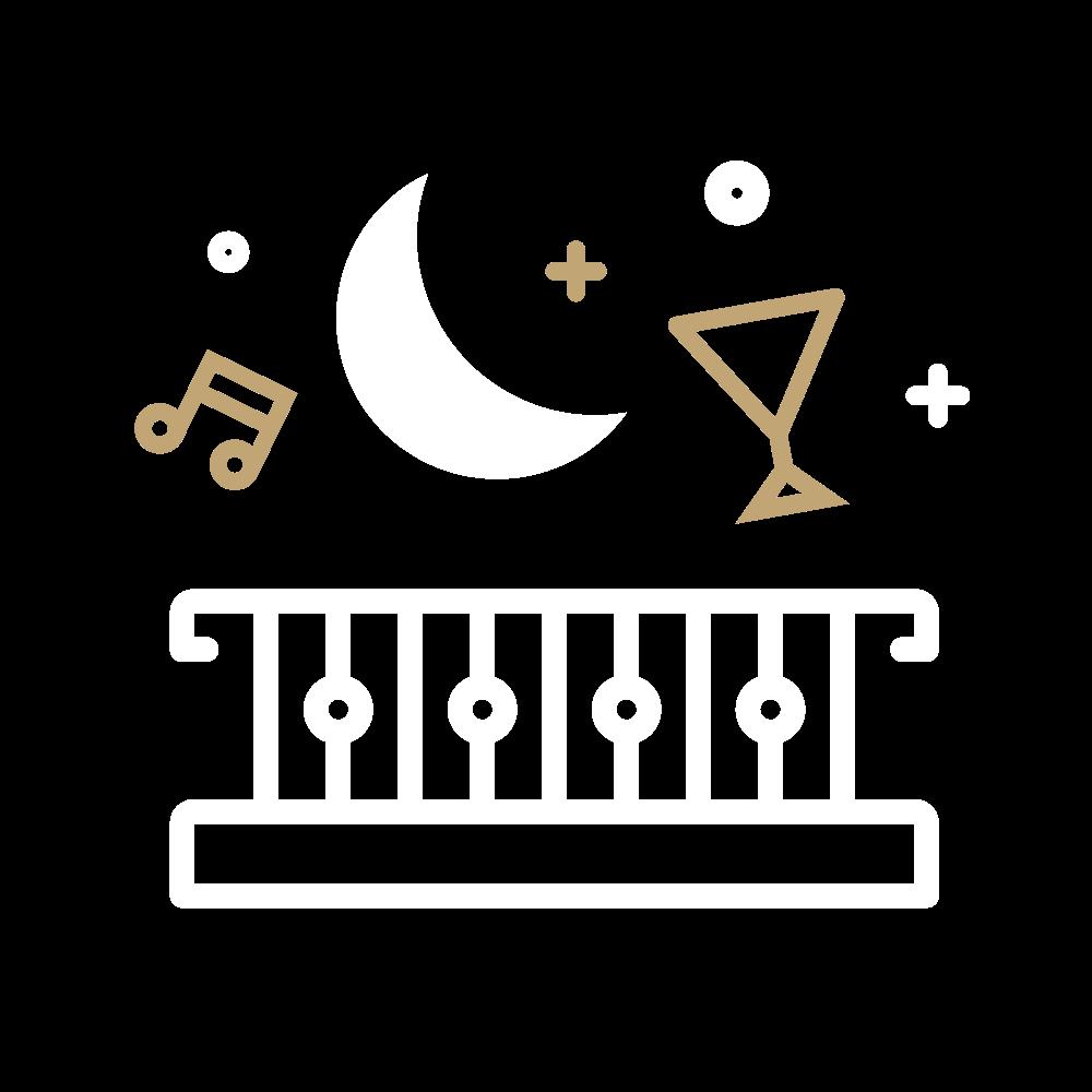 Moonlight Party Balcony